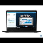 "Lenovo ThinkPad X13 Yoga Hybrid (2-in-1) Black 33.8 cm (13.3"") 1920 x 1080 pixels Touchscreen 10th gen Intel® Core™ i5 8 GB DDR4-SDRAM 256 GB SSD Wi-Fi 6 (802.11ax) Windows 10 Pro"