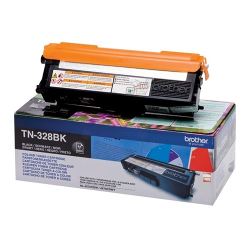 Brother TN328BK Laser Toner black 6000 pages