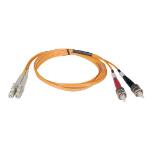 "Tripp Lite N318-08M fiber optic cable 315"" (8 m) OFNR 2x LC 2x ST Orange,Grey,Black,Red"