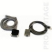Datalogic CAB-408 RS-232 Pwr Coil 9-Pin Fem cable de serie DB-9