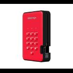 iStorage diskAshur 2 4000GB Red external hard drive