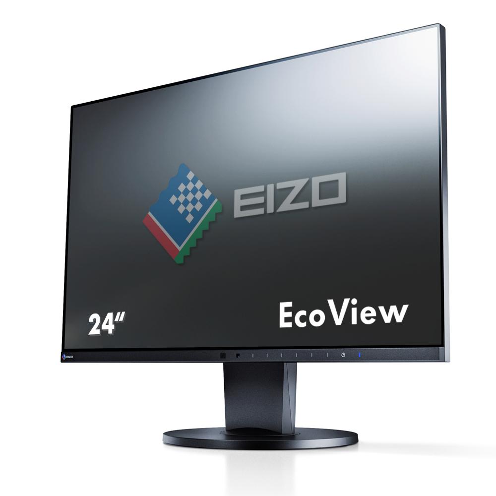 Desktop Monitor - FlexScan EV2450 - 23.8in - 1920x1080 (Full HD) - Black - IPS 5ms