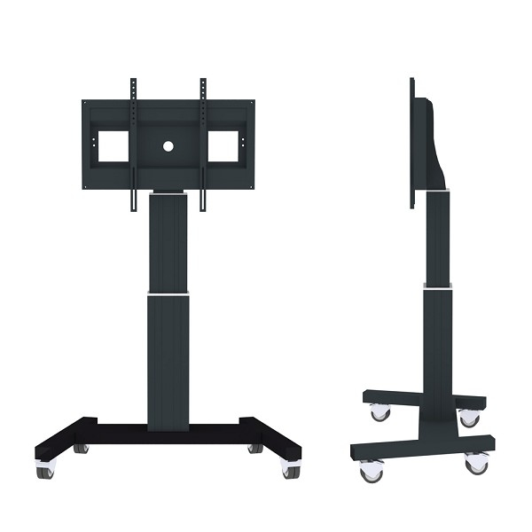 "Newstar PLASMA-M2500BLACK 100"" Portable flat panel floor stand Black flat panel floorstand"