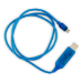 Generic Astrotek 1m LED Light Up Visible Flowing Micro USB Charger Data Cable Blue Charging Cord for Samsung
