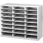 Fellowes 25041 literature rack 24 shelves Grey,White