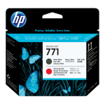 New Genuine HP 771 Matte Black/Chromatic Red DesignJet Printhead