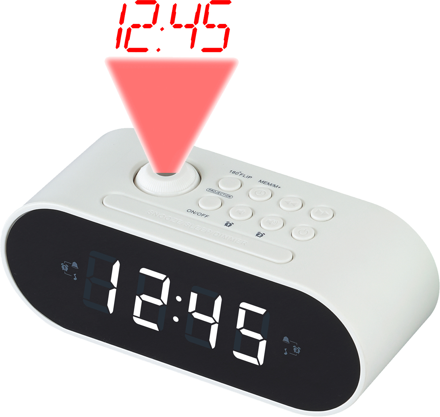 Denver Electronics CRP-717 Clock Digital White radio