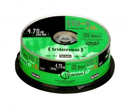 Intenso DVD-R 4.7GB, 16x 4.7GB DVD-R 25pc(s)