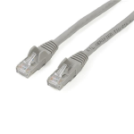 StarTech.com 2m CAT6 Ethernet Cable - Grey CAT 6 Gigabit Ethernet Wire -650MHz 100W PoE RJ45 UTP Network/Patch Cord Snagless w/Strain Relief Fluke Tested/Wiring is UL Certified/TIA