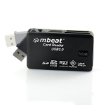 mBeat ® USB 2.0 All In One Card Reader - Supports SD/SDHC/CF/MS/XD/MicroSD /MicroSD HC / SONY M2 without a