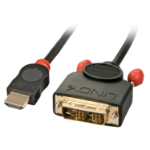 Lindy 36585 video cable adapter 10 m HDMI DVI-D Black