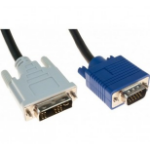 Hypertec 127701-HY cable interface/gender adapter DVI-A VGA Black