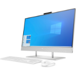"HP Pavilion 27-dp0170 27"" 1920 x 1080 pixels Touchscreen 10th gen Intel® Core™ i5 12 GB DDR4-SDRAM 512 GB SSD All-in-One PC Windows 10 Home Wi-Fi 5 (802.11ac) Silver"