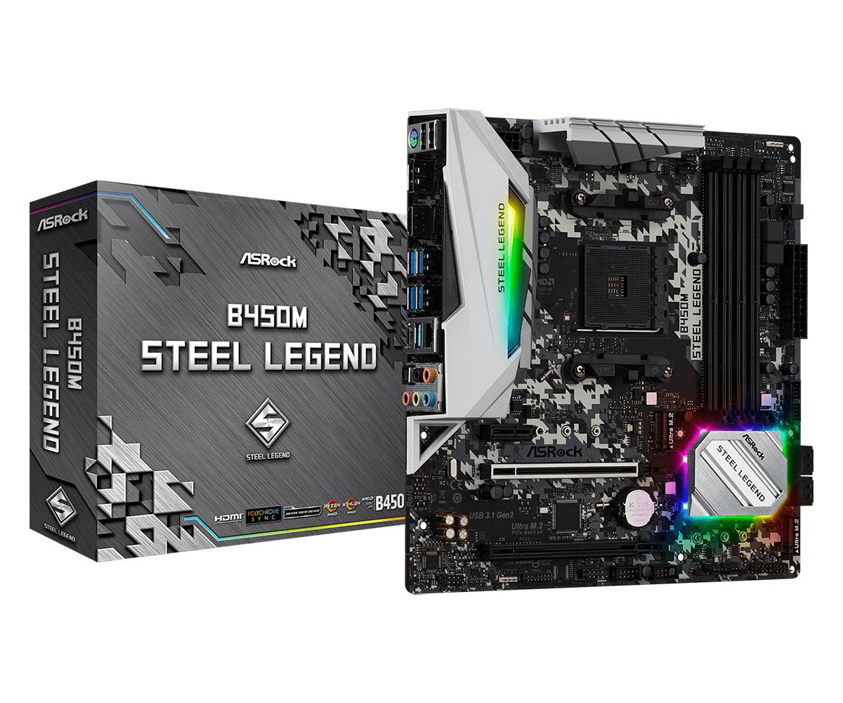 Asrock B450M Steel Legend placa base Zócalo AM4 Micro ATX AMD B450