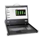 Tripp Lite NetCommander 8-Port Cat5 1U Rack-Mount Console KVM Switch with 19-in. LCD