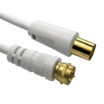 Cables Direct 2-FM-9M-10 coaxial cable 3C-2V 10 m TV F White