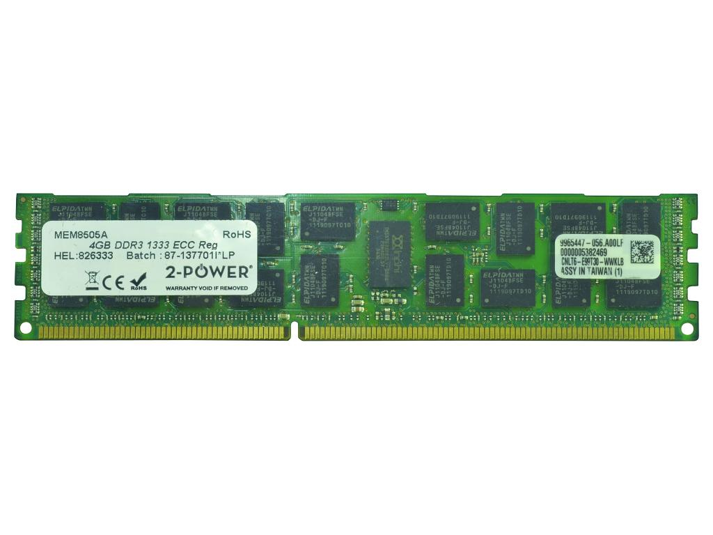 2-Power 4GB DDR3 1333MHz ECC RDIMM Memory - replaces 2PDPC31333RCPO14G