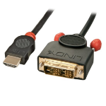 Lindy 36584 cable interface/gender adapter HDMI DVI-D Black