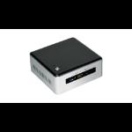 Intel NUC NUC5i3RYHSN Vijfde generatie Intel® Core™ i3 i3-5005U 4 GB DDR3L-SDRAM 1000 GB HDD Zwart, Wit UCFF Mini PC