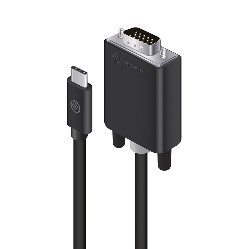 USB-C to VGA Cable - Male to Male - Premium Retail Box Packaging - 2m