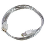 Microconnect USBAB3T 3m USB A USB B Male Male Transparent USB cable