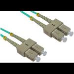 Cables Direct SC - SC, 3m fibre optic cable OFC Blue