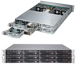 Supermicro SuperServer 6028TP-HTFR Intel® C612 LGA 2011 (Socket R) Rack (2U) Black