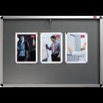 Nobo Internal Display Case Grey Felt A1