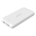 Orico 20000mAh Scharge Polymer Power Bank White (LD200), ABS, Micro USB 5V2A, USB-A 5V2.4A, power life ind