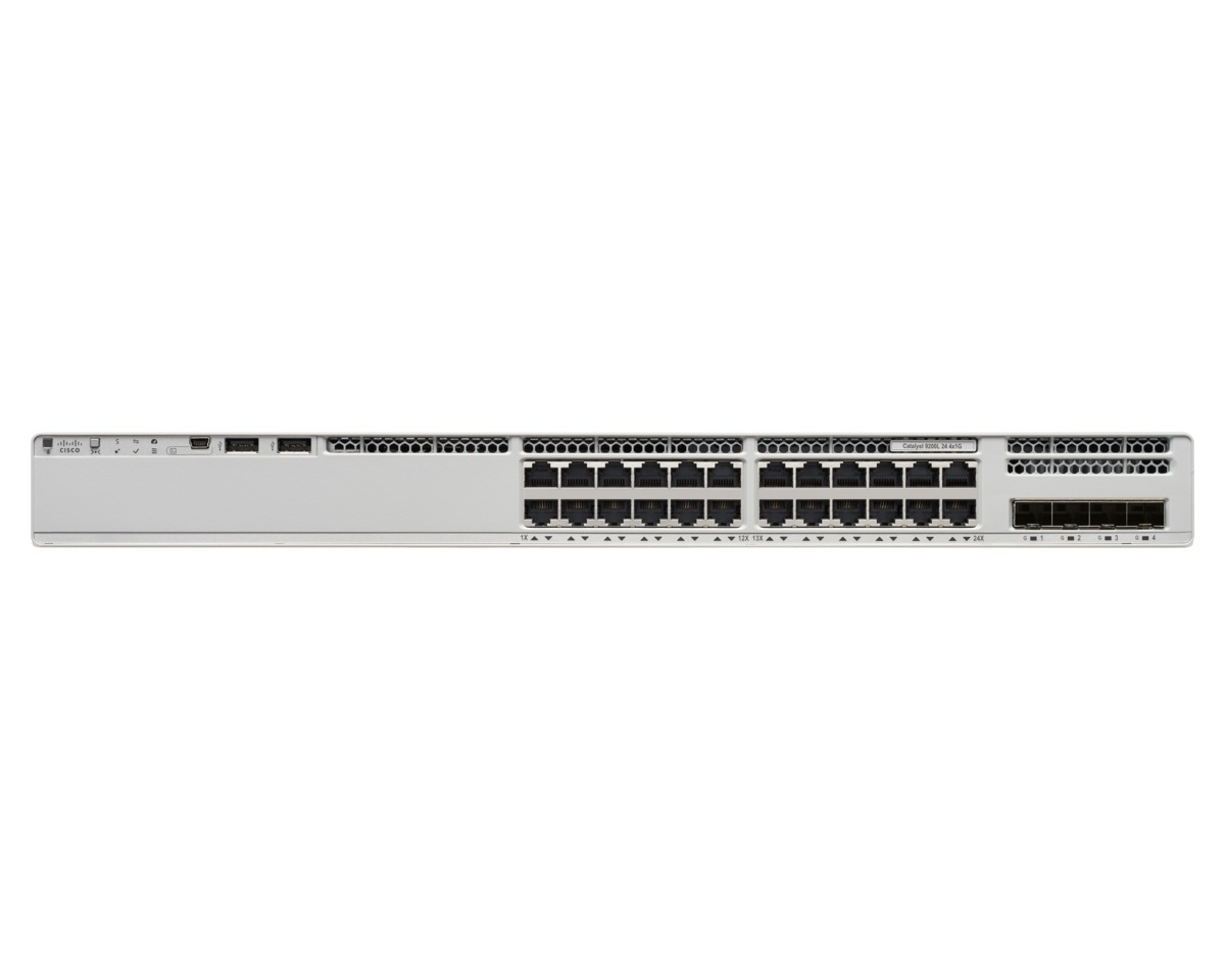 Cisco Catalyst 9200L Unmanaged L3 Gigabit Ethernet (10/100/1000) Grey Power over Ethernet (PoE)