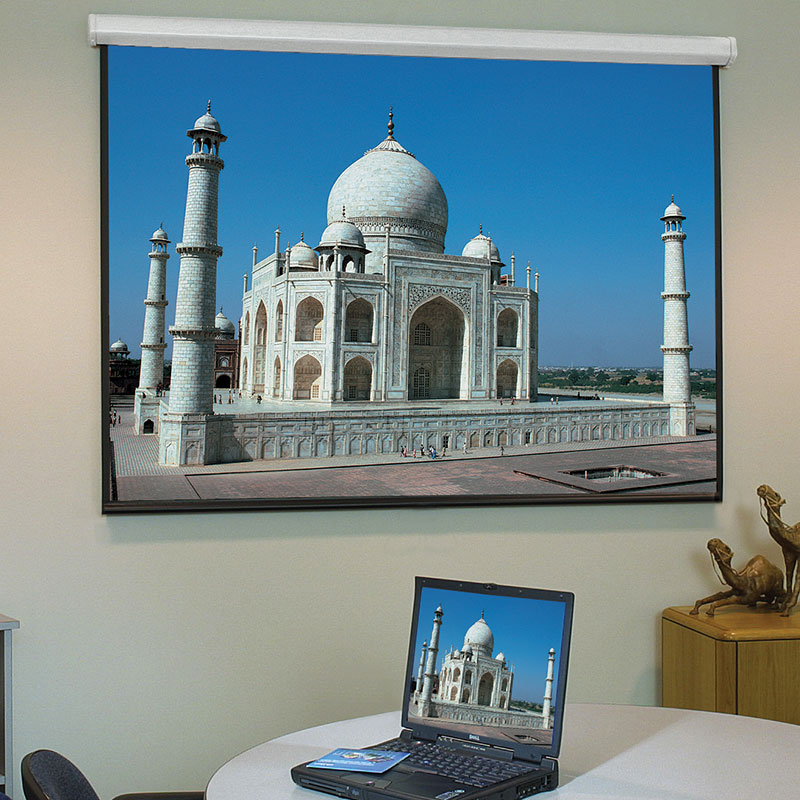 "Draper Baronet/Series HW - 169cm x 127cm - 84"" Diag - 4:3 - Matt White XT1000E - Hard Wired - Electric Projector Screen"
