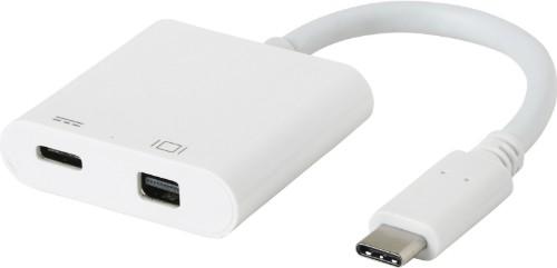 eSTUFF USB-C MiniDP Charging Adapter USB 3.2 Gen 1 (3.1 Gen 1) Type-C 5000 Mbit/s White