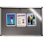 Nobo Internal Display Case Grey Felt A0