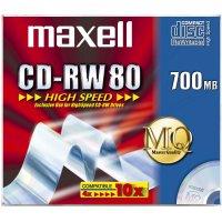 Maxell CD-RW 700MB 80Min 1-10x HighSpeed JC 10pk 10 pc(s)