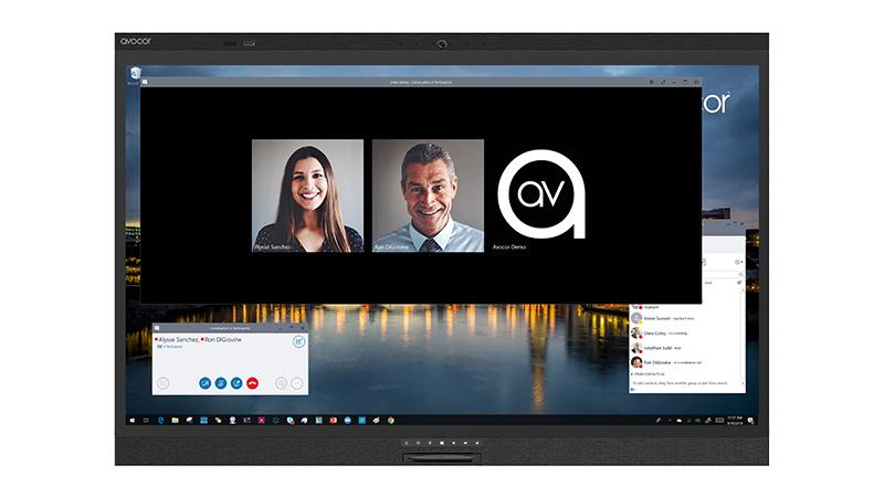 """Avocor AVW-6555 pantalla de señalización 165,1 cm (65"""") LED 4K Ultra HD Pantalla táctil Panel plano interactivo Negro"""