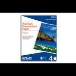 """Epson Premium Presentation Paper Matte - 8.5"""" x 11"""" - 50 sheets papel fotográfico dir"""
