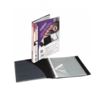 Snopake ZipIt Reorganiser Presentation Display Book 40 Pocket Black 15780