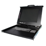 "StarTech.com 1U DuraView 17"" Folding LCD Rack Console Black KVM switch"