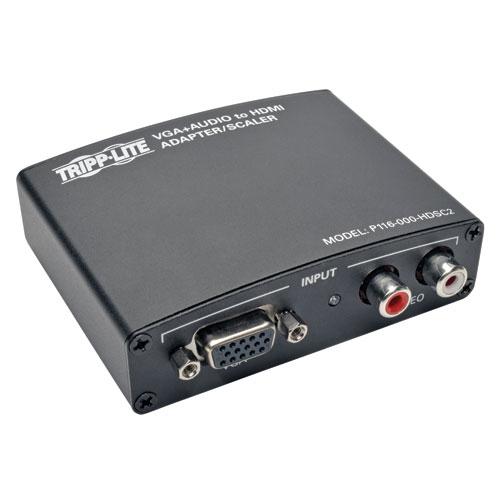 Tripp Lite VGA with RCA Stereo Audio to HDMI Converter / Scaler