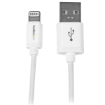 StarTech.com 1 m (3 ft.) USB to Lightning Cable - iPhone / iPad / iPod Charger Cable - High Speed Charging Lightning to USB Cable - Apple MFi Certified - White