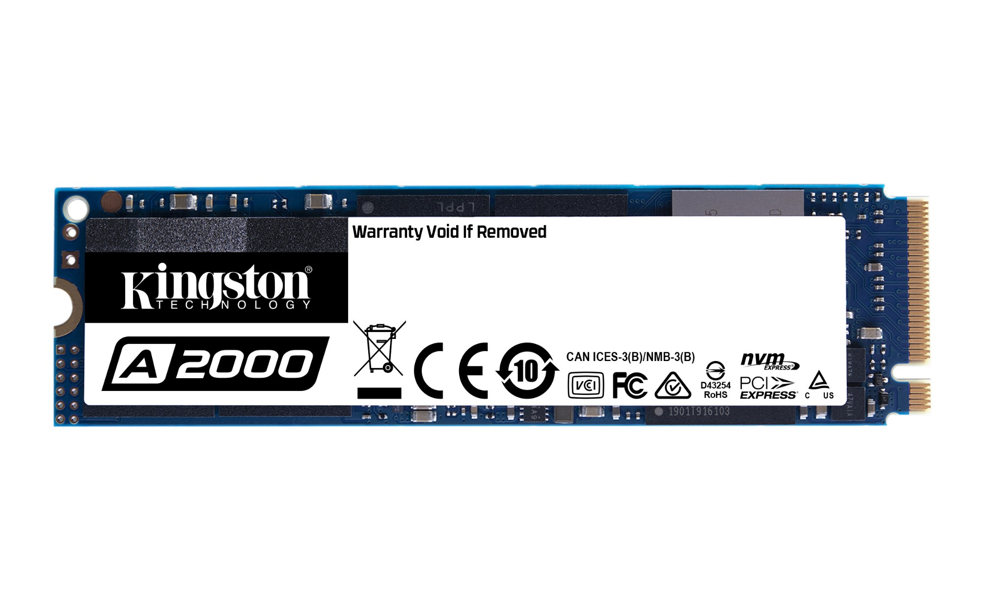 Kingston Technology A2000 internal solid state drive M.2 250 GB PCI Express 3.0 NVMe