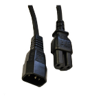 Videk IEC (C14) / IEC (C15) 2.0m Black 2 m C14 coupler C15 coupler