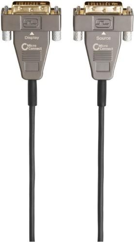 Microconnect MONCC20OP DVI cable 20 m DVI-D Gold, Gray