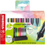 STABILO Green Boss Pastel marker 8 pc(s) Chisel tip Multicolour