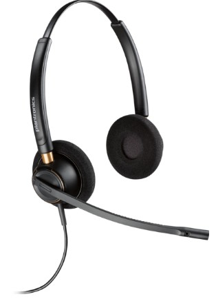 Plantronics HW520D Binaural Head-band Black headset