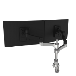 R-Go Tools R-Go Zepher 4 C2, Circular Dual Monitor Arm, Desk Mount, Adjustable, 0-8 kg, Black-Silver, Low Carbon Footprint