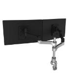 R-Go Tools R-Go Zepher 4 C2, Circular Dual Monitor Arm Desk Mount, Adjustable, 0-8 kg, Black-Silver, Low Carbon Footprint