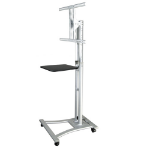 Lindy 40736 flat panel floorstand Stainless steel