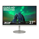 Acer CB2 CB282Ksmiiprx 28 inch UHD Monitor (IPS Panel, FreeSync, 60Hz, 4ms, HDR 10, Height Adjustable Stand, DP, HDMI, Silver/Black)