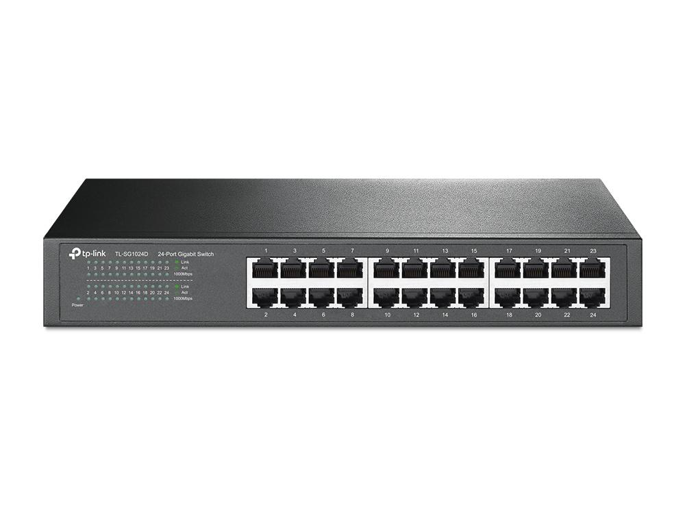 TP-LINK 24-Port Gigabit Desktop/Rackmount Switch Unmanaged Gigabit Ethernet (10/100/1000) Grey